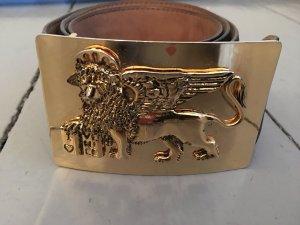 Vintage Moschino Gürtel * 44/95 * schwarz * gold