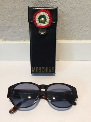 Moschino Zonnebril donkerbruin-goud kunststof