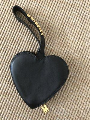 Moschino Portefeuille noir-brun sable