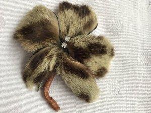 Vintage Broche beige claro-marrón