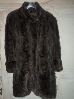 Pelt Coat black brown-dark brown pelt