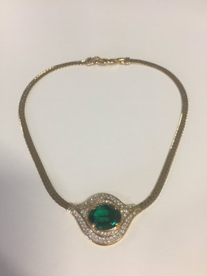Nina ricci Collier Necklace gold-colored-forest green metal
