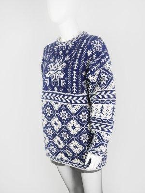 Vintage Norweger-Pullover aus reiner Wolle