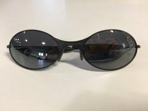 Oakley Ovale zonnebril zwart-zilver Metaal
