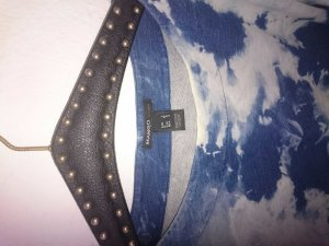 Mango Batik shirt lichtblauw-blauw