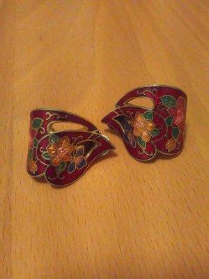 Vintage Orecchino a clip multicolore Metallo