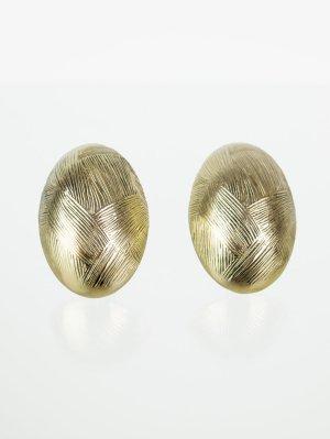 Vintage Ohrclips mit feinen Rillen