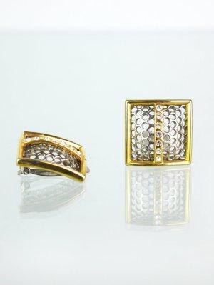 Orecchino a clip oro-argento Metallo