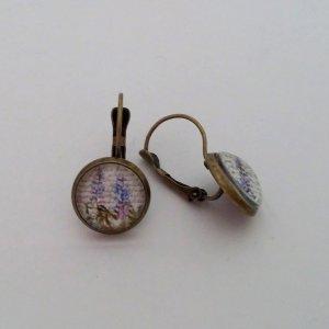 Vintage Ohrhänger im Antik Look - Lavendel