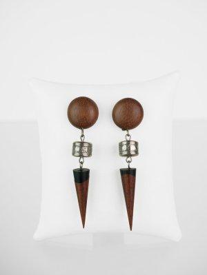 Vintage Ohrringe aus Holz