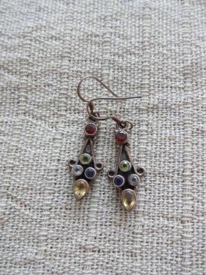 vintage Ohrringe echtsilber mit funkelnden steinchen