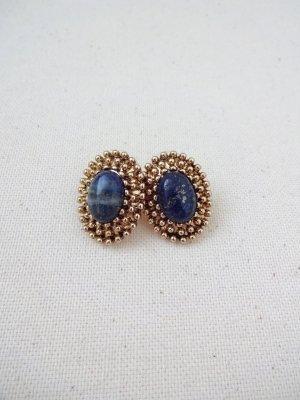 vintage Ohrstecker mit blauem edelstein