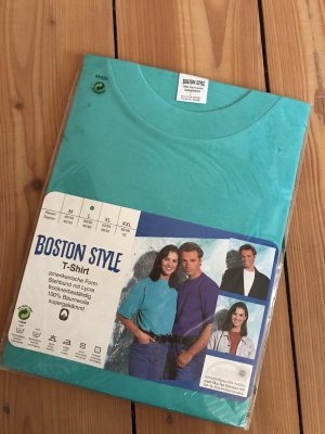 VINTAGE OLDSCHOOL BOSTON STYL Shirt türkis