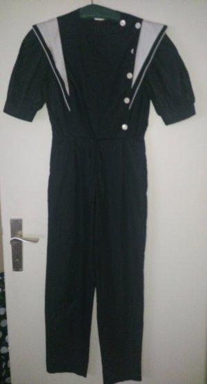 Vintage Overall, im 80er Stil, Marine Style, ca. Größe 36
