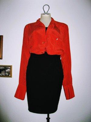 Vintage Oversize Bluse mit süßen Polkadots in rot