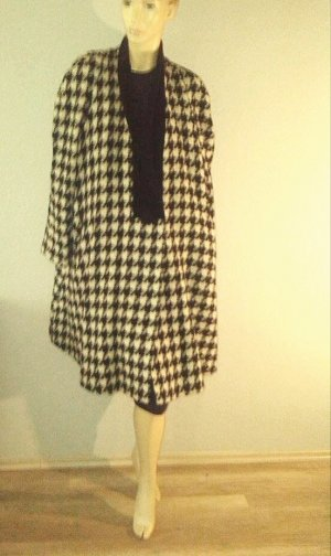 vintage oversize mantel hahnentritt A-Linie mit Samtkragen