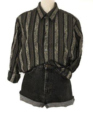 Vintage Oversize Muster Hemd Hippie Boho Casual Style