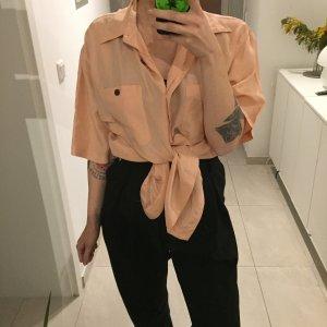 Vintage Oversize Seiden Bluse Pure Silk Shirt