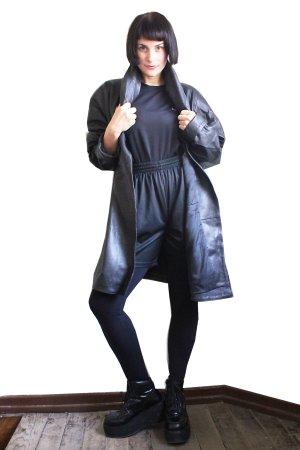 Vintage Oversized Leather Jacket Coat