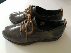 Vintage Oxford shoes in grau 37 Lack