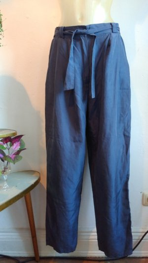Vintage Pants Woman Silk Blue Gr.42