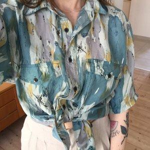 Silk Blouse multicolored silk