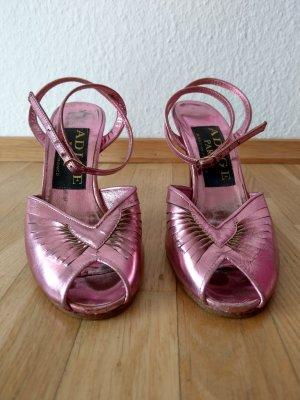 Vintage Peeptoes in rosa metallic