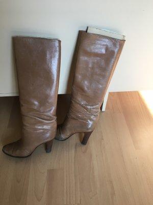 Vintage Pensato Stiefel aus braunem Leder in38,5