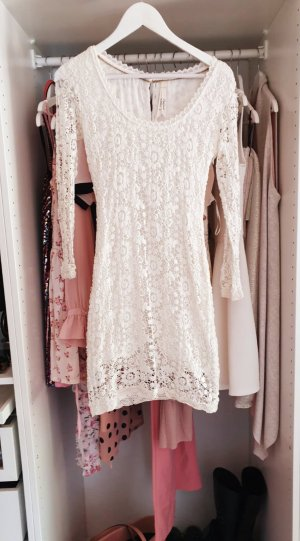 Pepe Jeans Abito in pizzo bianco