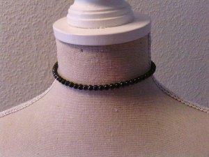 Vintage Perlenkette schwarz