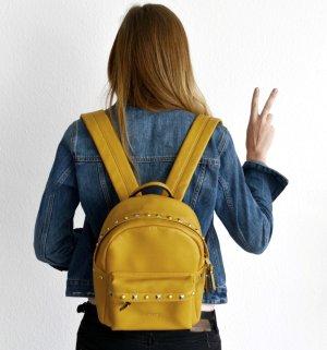 Vintage Picard kleiner Damen Rucksack Back Pack gelb