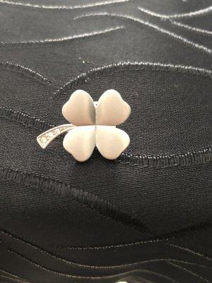 Vintage Pierre Lang Sticker Ansteckpin Pin Kleeblatt Zirkonias Rhodiniert Neu