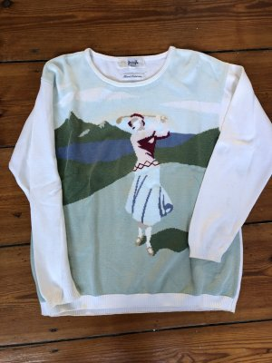 Vintage Pringle of Scotland Intarsienpullover Golf Sweater aus Baumwolle in M