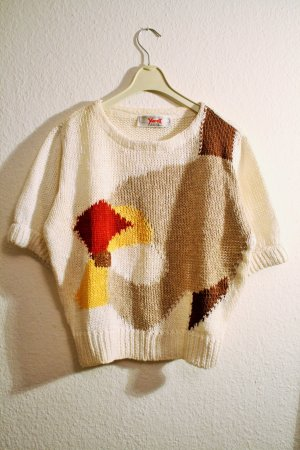 Sweater met korte mouwen veelkleurig