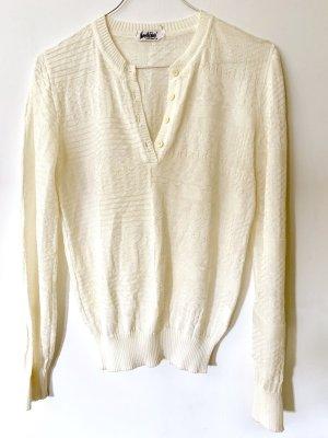 beclaimed vintage Maglione lavorato a maglia bianco sporco-bianco