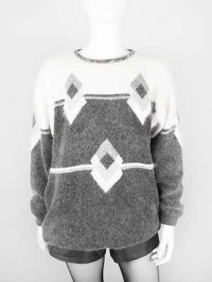 Vintage Pullover aus softem Material-Mix