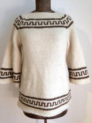 Vintage Pullover aus Wolle mit ausgestellten Ärmeln, passt Gr. 38-42