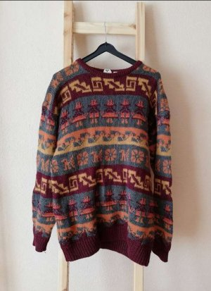 Vintage Knitted Sweater carmine