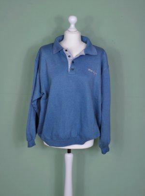 Vintage Pullover in Blau mit Stickerei