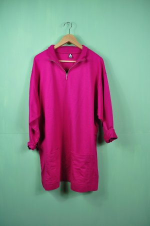 Vintage Pullover / Kleid / Longshirt im kräftigen Pink