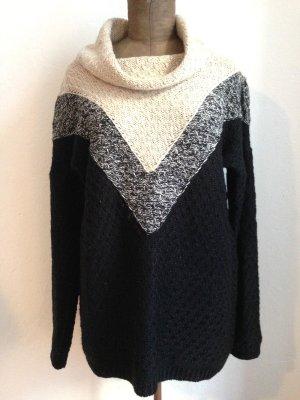 Vintage Pullover mit lockerem Rollkragen, passt Gr. 40- 44