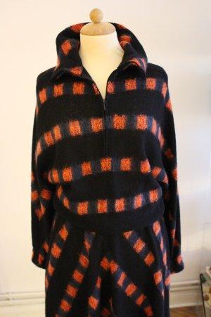 Maglione di lana multicolore Tessuto misto