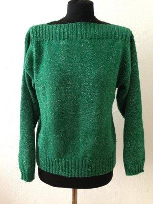 Vintage Pullover mit silbernem Glitzergarn, Gr. 36/38