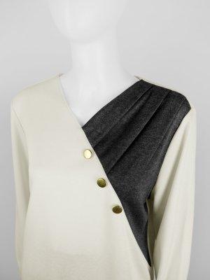 Vintage Pullover mit V-Ausschnitt, zweifarbig