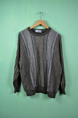 Vintage Pullover Strick in Naturfarben