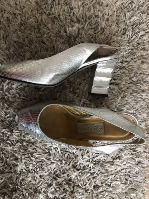 Peep Toe Pumps zilver