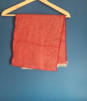 Vintage Red Wool Scarf