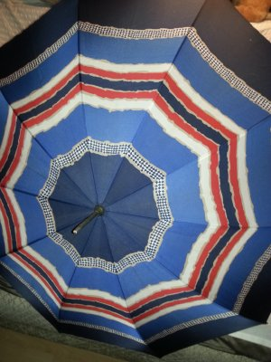 Parapluie long multicolore