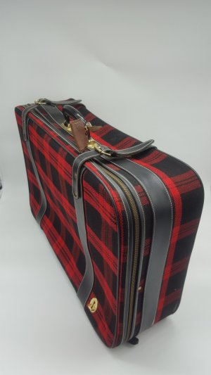 Suitcase dark red-black