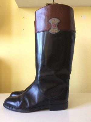 Botas de equitación negro-marrón